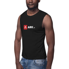ARK white letter muscle shirt