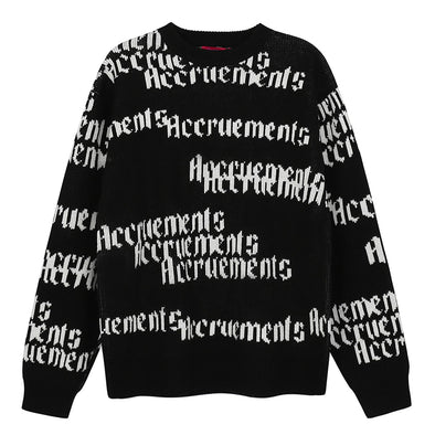 ACCRUEMENTS Logo Sweater-streetwear-techwear