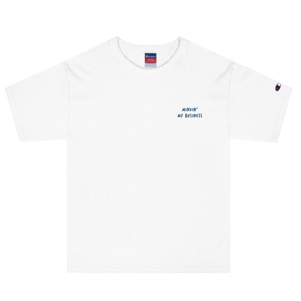 AFFICIAL x Champion 'Mindin' my Business' Embroidered T-Shirt-streetwear-techwear