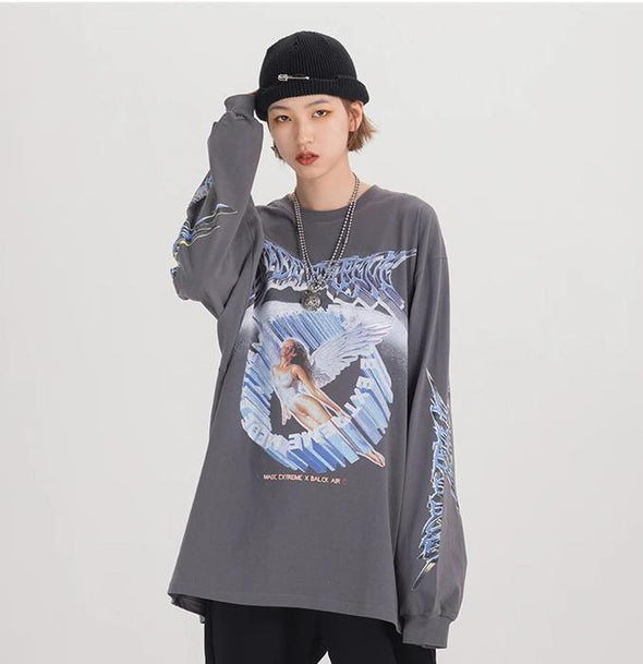 'Made Extreme' Metal Graphic Long Sleeve T-Shirt-streetwear-techwear-street-style-mens-womens-fashion