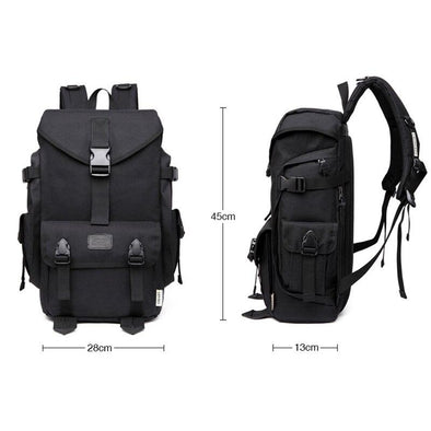 Utility Strapped Backpack-streetwear-techwear