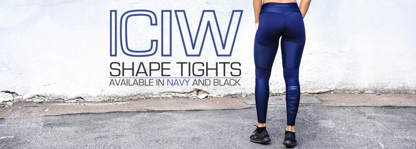 ICIW Shape Tights - Navy and Black