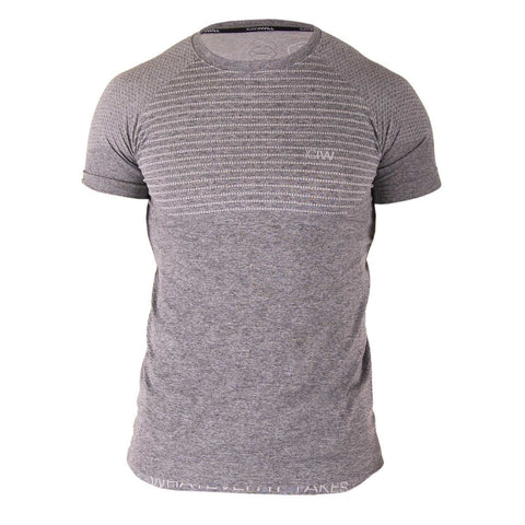 Seamless T-shirt - Grey/White