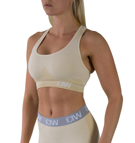Seamless Sports Bra - Beige