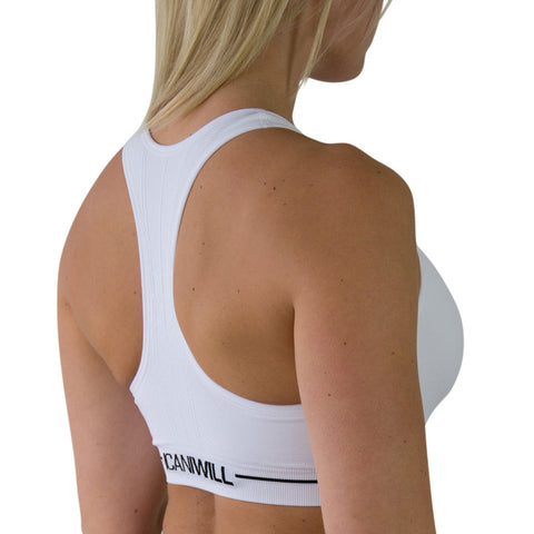 Seamless Sports Bra - White