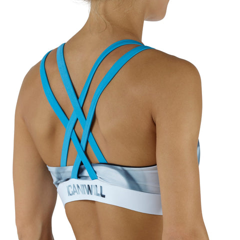 Smokey Sport Bra - Blue