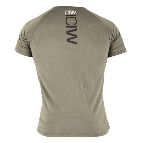 Tri-Blend T-Shirt - Army Green/Black