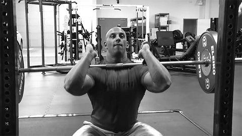 Beefy Arms? Use Straps for Front Squats