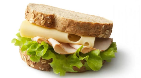 The balanced combination of protein, carbs and fat in this sandwich are ideal for mass-building