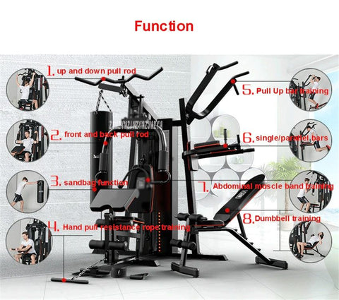 8 in 1 Large Combined Training Integrated Fitness Equipment Home Gym