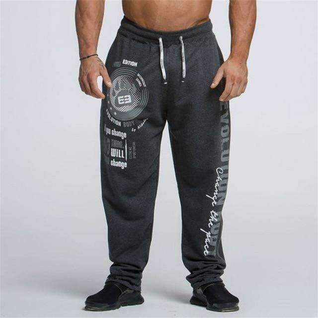 New Running Jogging Pants Men Cotton Soft Bodybuilding Joggers Sweatpants Harem Long Trousers Gym Fitness Sport Training Pants