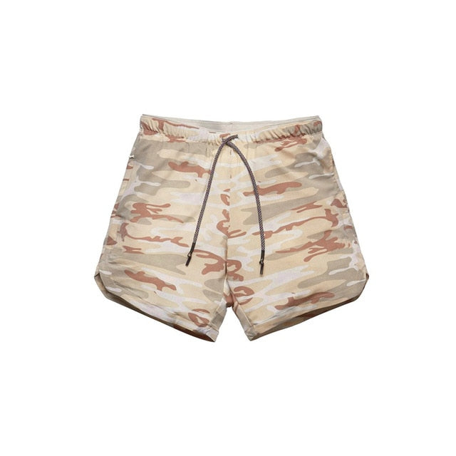Men's Camouflage, 2 in 1, double-deck, Fitness Shorts - Amal Hantash Fitness