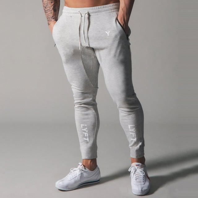 Fitness & Bodybuilding Piping Stretch Skinny Men's Sweatpants