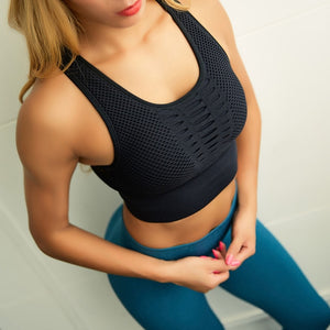 Seamless Racerback Crop Tank Top For Women