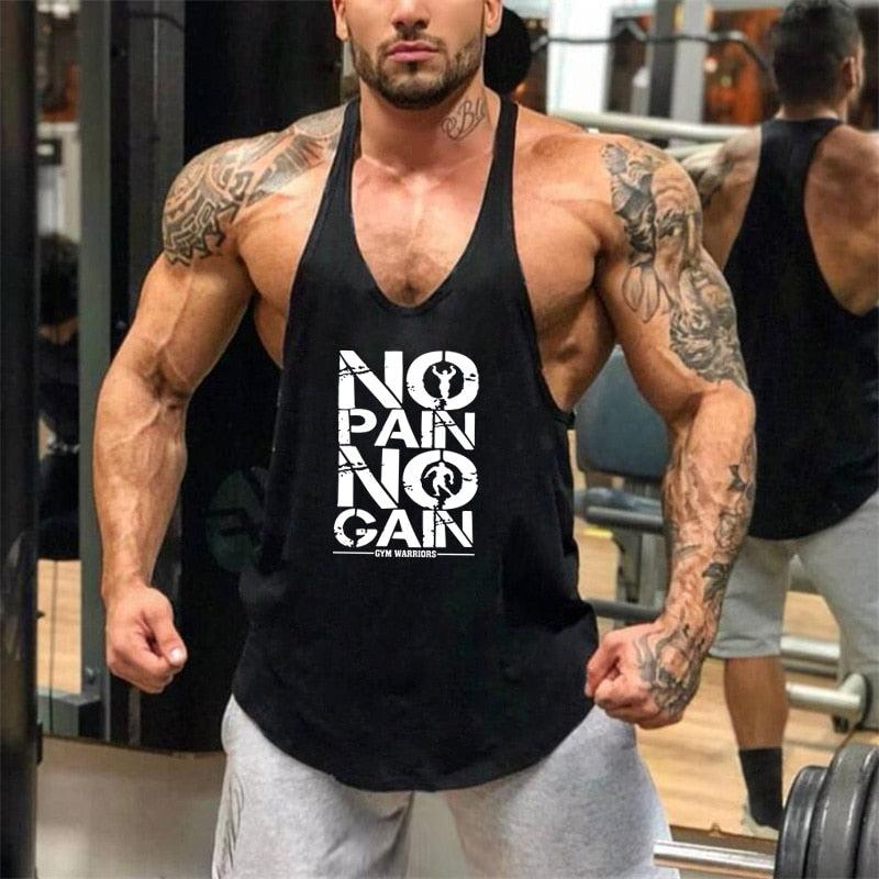 Fitness & Bodybuilding Cotton Stringer Shirts For Men