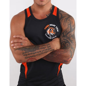 Black Tiger Muay Thai MMA Stringer Tank Top For Men
