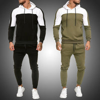 Men Sets fitness & Bodybuilding Tracksuits jacket+Pants