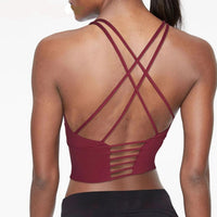 Adjustable Fitness Sport Bra Yoga Sexy Cross Strap Backless Top - Amal Hantash Fitness