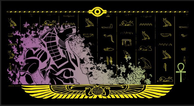 Anubis 1 Player Playmat LED 1/5