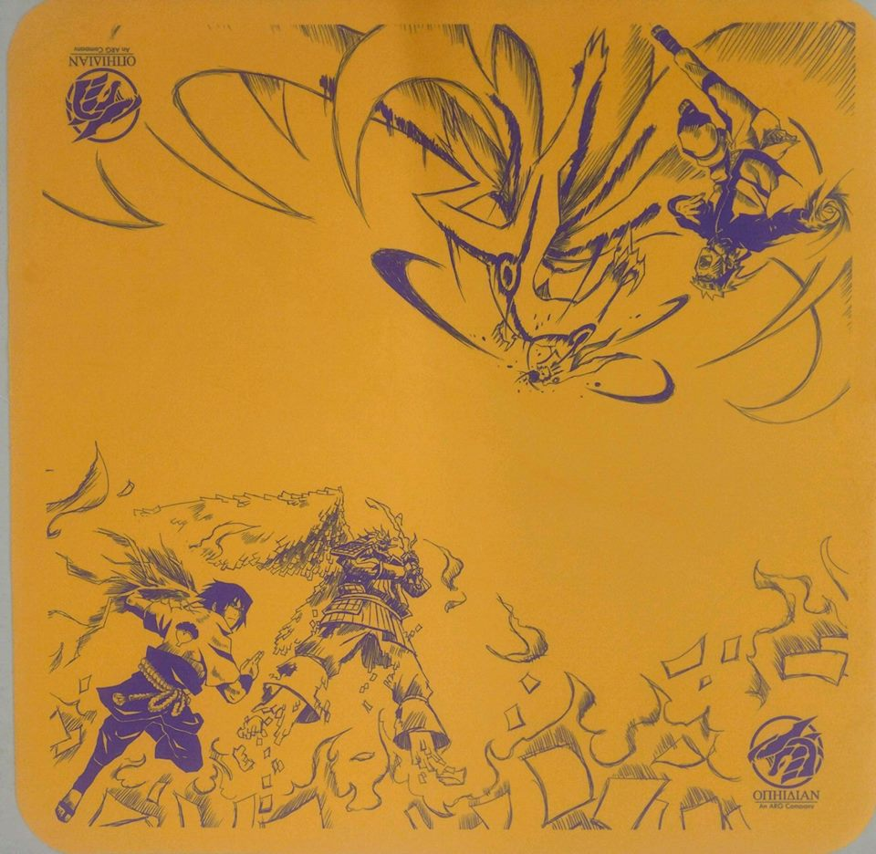 Old Rivals Yellow/Purple 2 Player Cloth Playmat