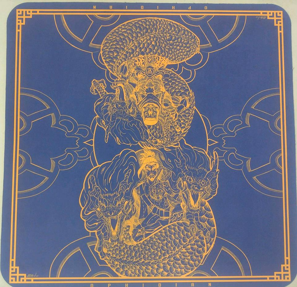 Dragon Brothers Navy/Gold 2 Player Cloth Playmat