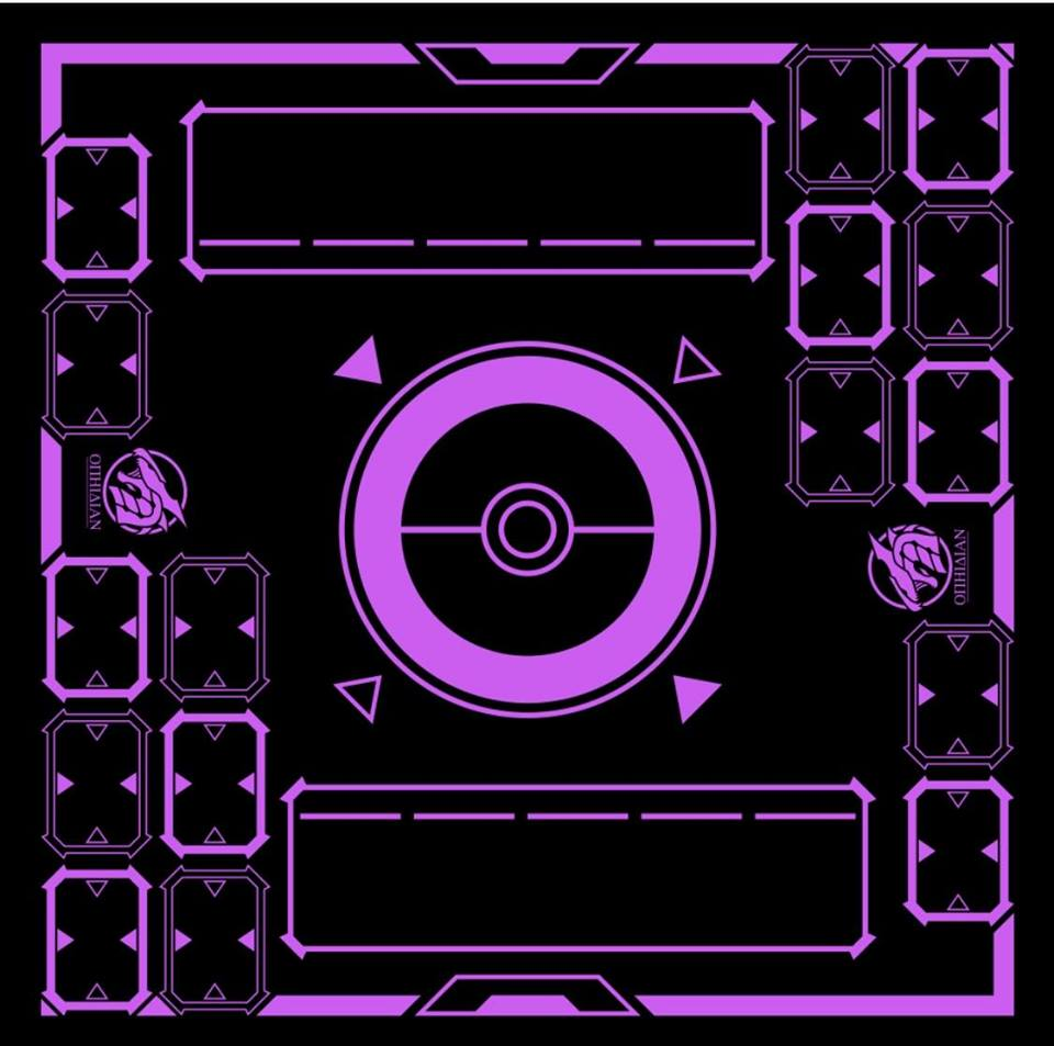 Stadium Black/Purple 2 Player Cloth Playmat