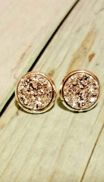 Luminous Silver Druzy Earrings