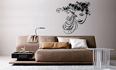 Wall Mural Vinyl Decal Sticker Beautiful Fashion Hair Salon Spa Girl Face AL762
