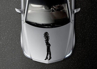 CAR HOOD VINYL DECAL ART STICKER GRAPHICS FASHION GIRL MODEL OS615