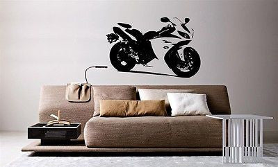Wall Mural Vinyl Decal Sticker Motorcycle Bike Sport Racing Crotch Rocket AL850