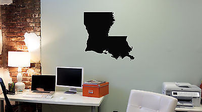 Wall Mural Vinyl Decal Sticker Louisiana Map AL333