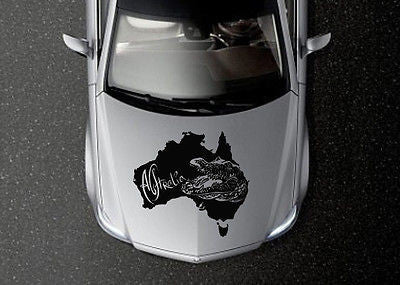 CAR HOOD VINYL DECAL ART STICKER GRAPHICS CROCODILE PREDATOR ANIMAL OS578