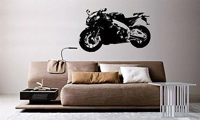 Wall Mural Vinyl Decal Sticker Motorcycle Bike Sport Racing Crotch Rocket AL842