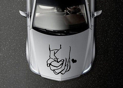 CAR HOOD VINYL DECAL ART STICKER GRAPHICS hands of lovers OS627