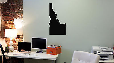 Wall Mural Vinyl Decal Sticker Idaho Map AL329