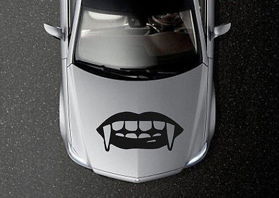 CAR HOOD VINYL DECAL ART STICKER GRAPHICS Teeth with fangs OS648