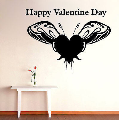 Wall Mural Vinyl Decal Sticker Room Happy Valentine Day Interior Decor KJ204
