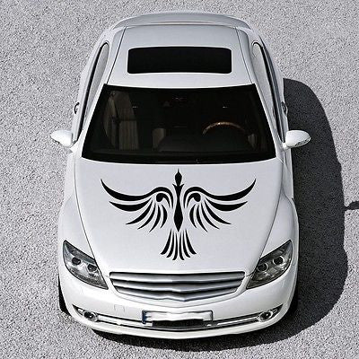 Car Hood Vinyl Decal Graphics Stickers Murals Design Phoenix Bird Tattoo SV4926