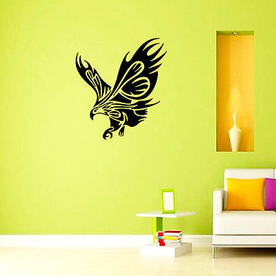 Wall Mural Vinyl Decal Sticker Room Animals Tribal Eagle Decor KJ153