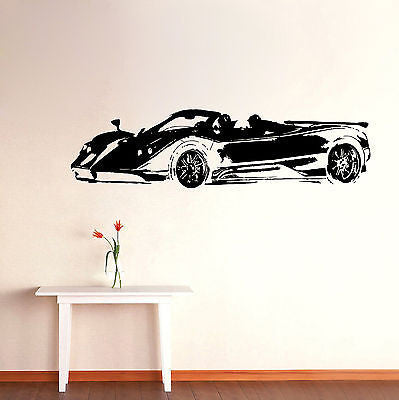 Wall Mural Vinyl Decal Sticker Room Sport Car Decor KJ018
