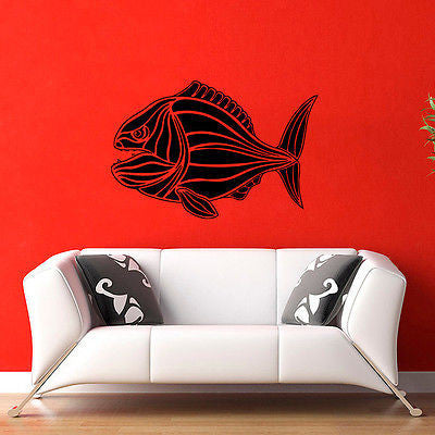 Wall Mural Vinyl Decal Sticker Room Sea Animals Tribal Fish KJ102