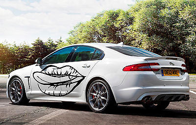 CAR SIDE VINYL DECAL ART STICKER GRAPHICS GIRL HOT LIPS JK2
