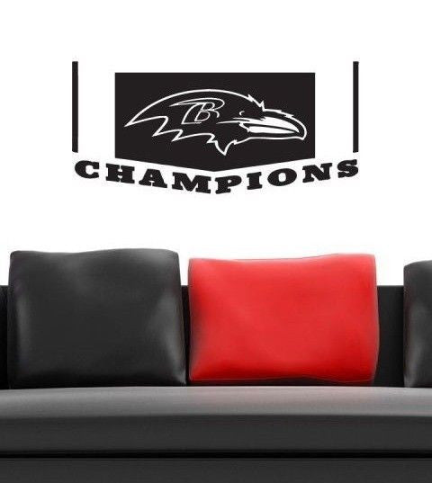 Baltimore Ravens NFL Team Superbowl Wall Decal Gm0601 FRST