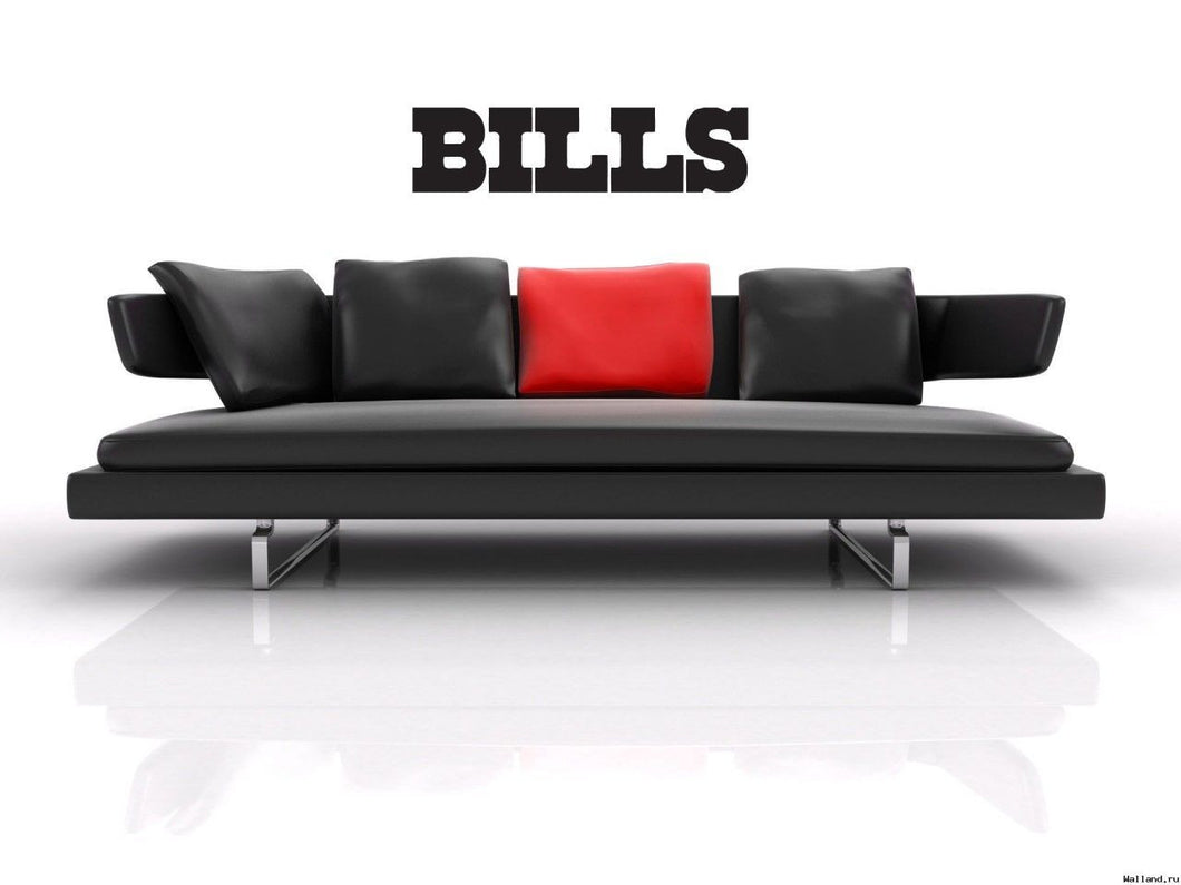 Buffalo Bills NFL Team Superbowl Wall Decal Gm0603 FRST