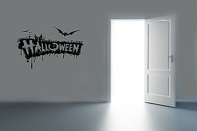 Wall Vinyl Decals Sticker Housewares Holiday Halloween Party AB1264