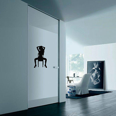 Wall Vinyl Decals Sticker People Stripper Girl with a Chair KJ1202