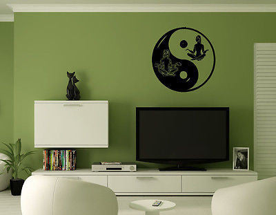 Wall Mural Vinyl Decal Sticker Lotus Yin Yang AL378