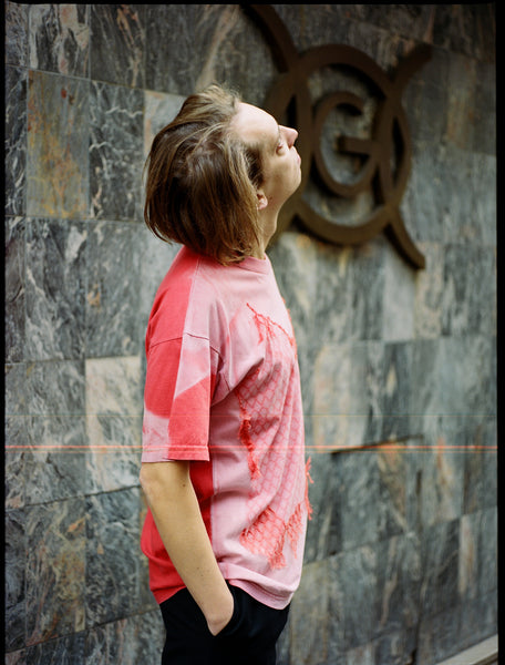 The Community - Elina Laitinen Pyhavaatteita Unisex T-Shirt in Red - Vintage Cotton Sunbleached Nails
