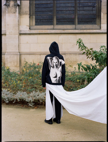 The Community - Maria Korkeila Unisex Hoodie with Print Application in Black