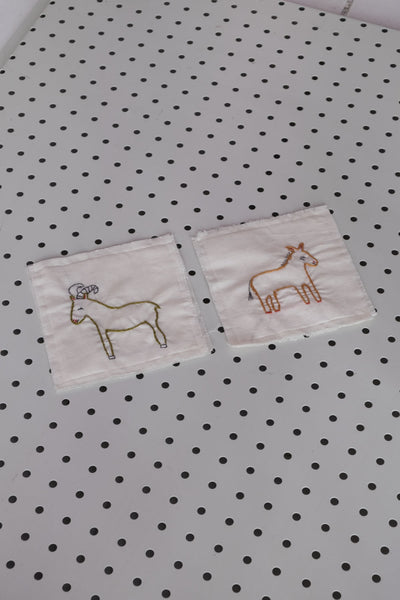 Embroidered Animal Coaster